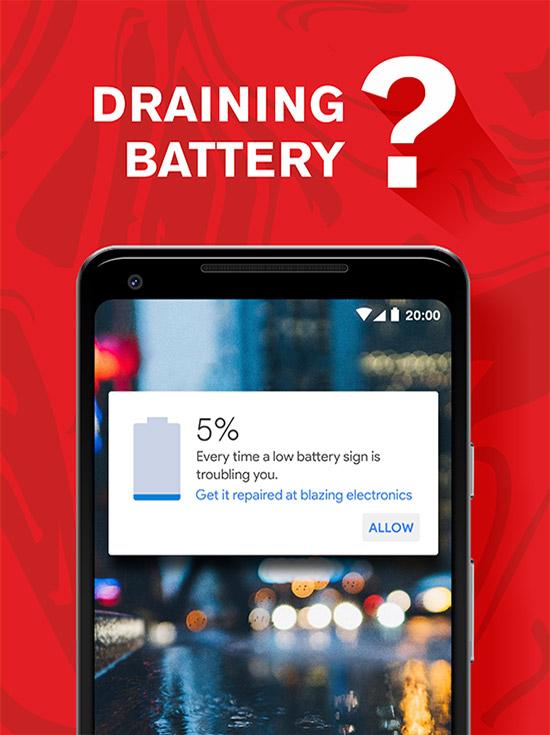 Draining Phone Battery Wichita